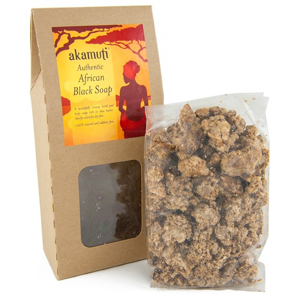 Akamuti Authentic African Black Soap Crumble, 130 g